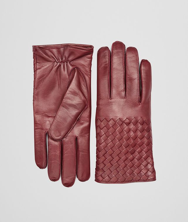 BOTTEGA VENETA Aubergine Intrecciato Soft Nappa Gloves Scarf or Hat or Glove U fp