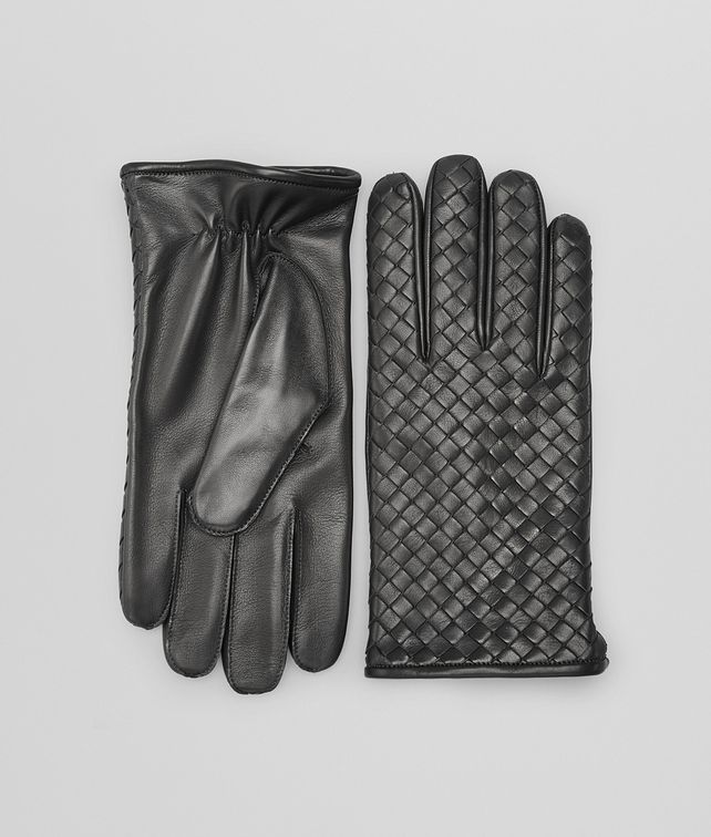 BOTTEGA VENETA Dark Grey Intrecciato Soft Nappa Gloves Scarf or Hat or Glove U fp