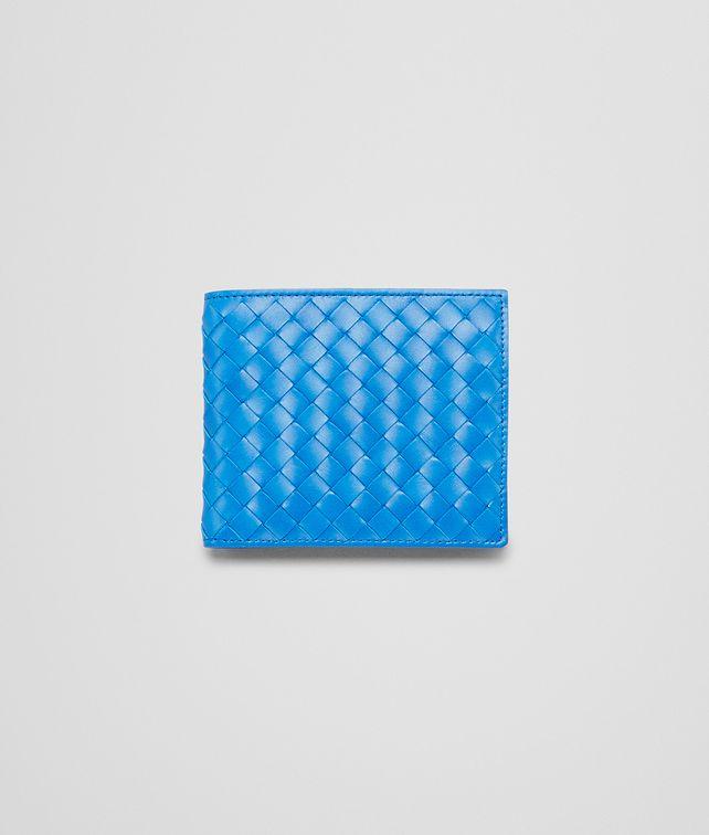 BOTTEGA VENETA Signal Blue Intrecciato Vn Wallet Bi-fold Wallet U fp