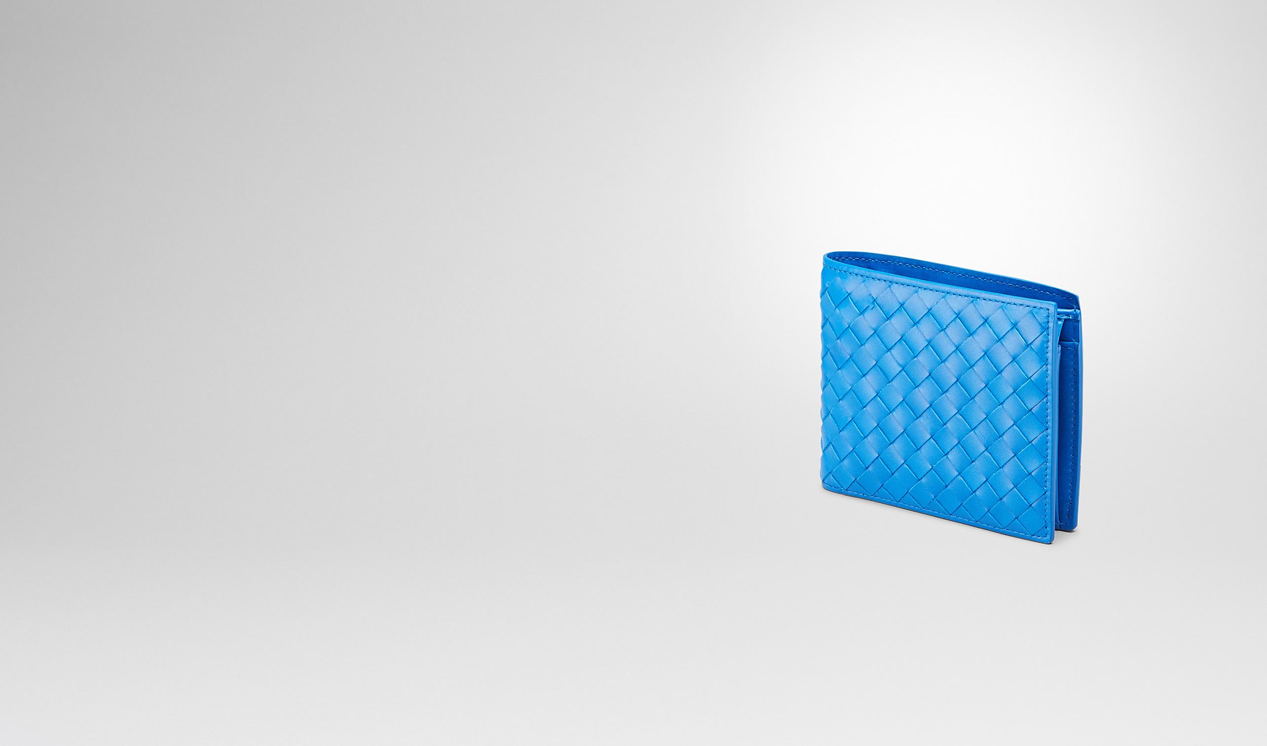 BOTTEGA VENETA Bi-fold Wallet U Signal Blue Intrecciato Vn Wallet pl