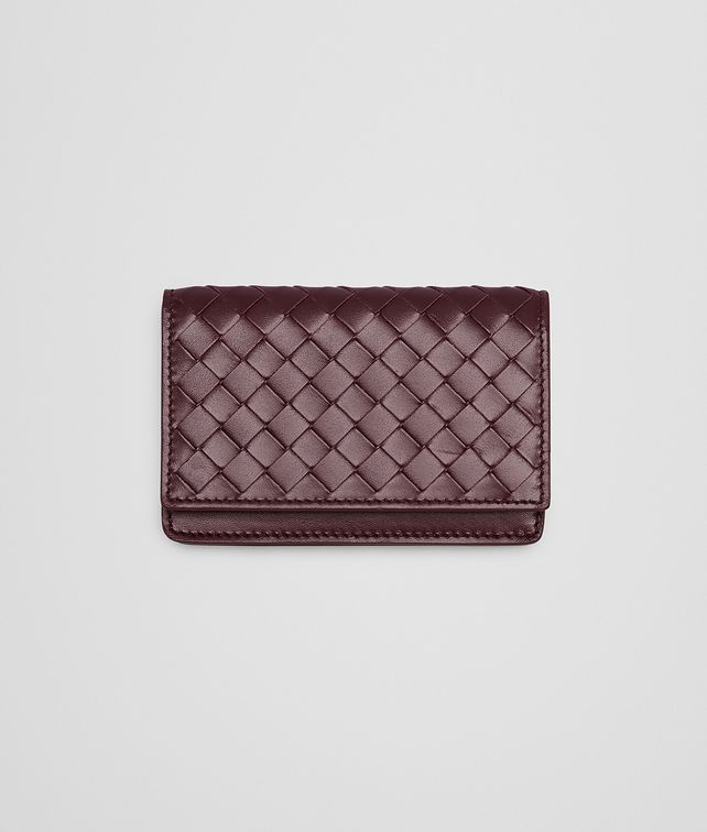 BOTTEGA VENETA Aubergine Intrecciato VN Card Case Card Case or Coin Purse U fp
