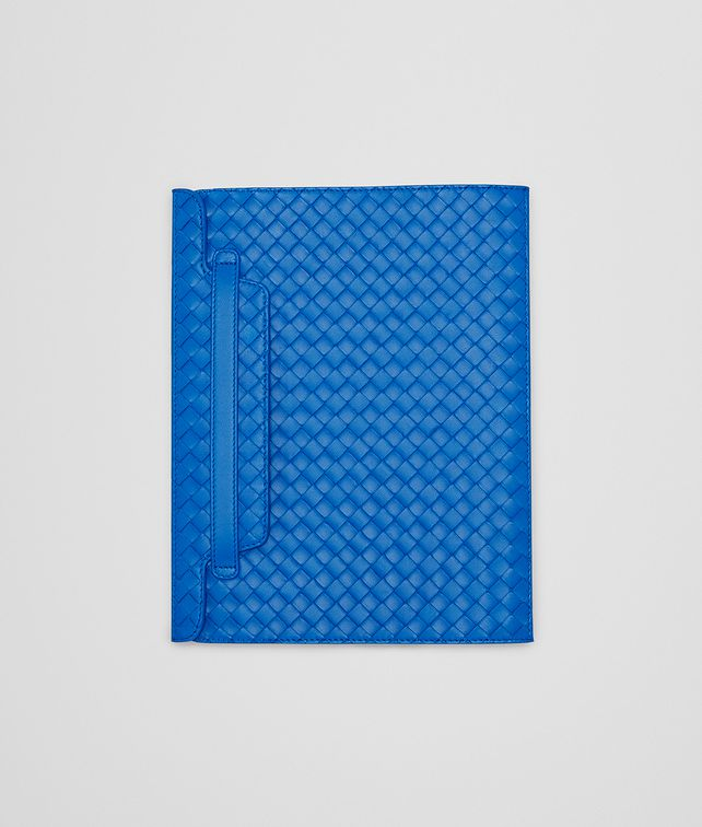 BOTTEGA VENETA CUSTODIA PER IPAD SIGNAL BLUE IN NAPPA INTRECCIATA Altro accessorio in pelle E fp
