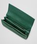 BOTTEGA VENETA CONTINENTAL PORTEMONNAIE aus gewaschenem Lammleder Intrecciato EMERALD GREEN Continental Portemonnaie D ap