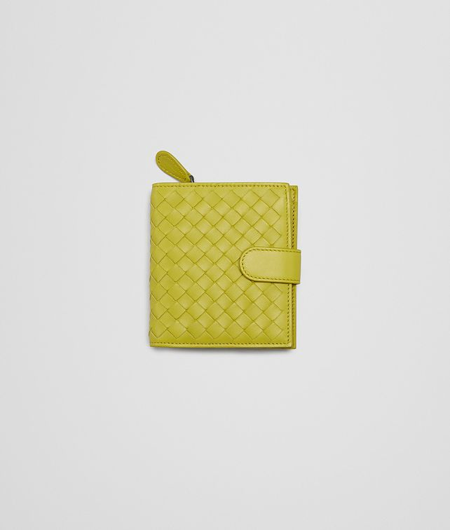 BOTTEGA VENETA New Chartreuse Intrecciato Nappa Wallet Mini Wallet or Coin Purse D fp