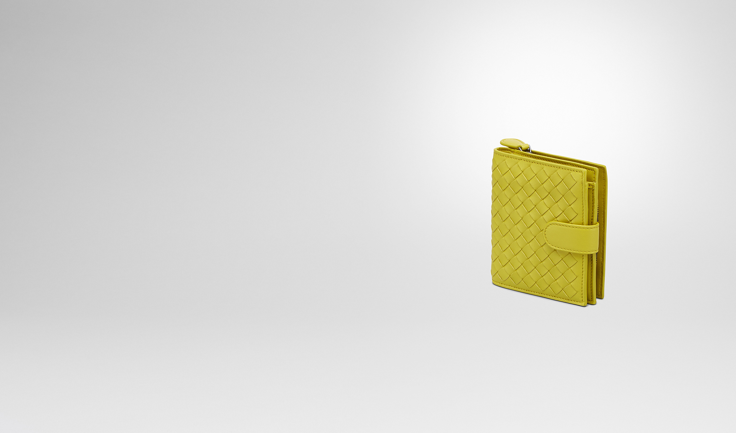 BOTTEGA VENETA Mini Wallet or Coin Purse D New Chartreuse Intrecciato Nappa Wallet pl