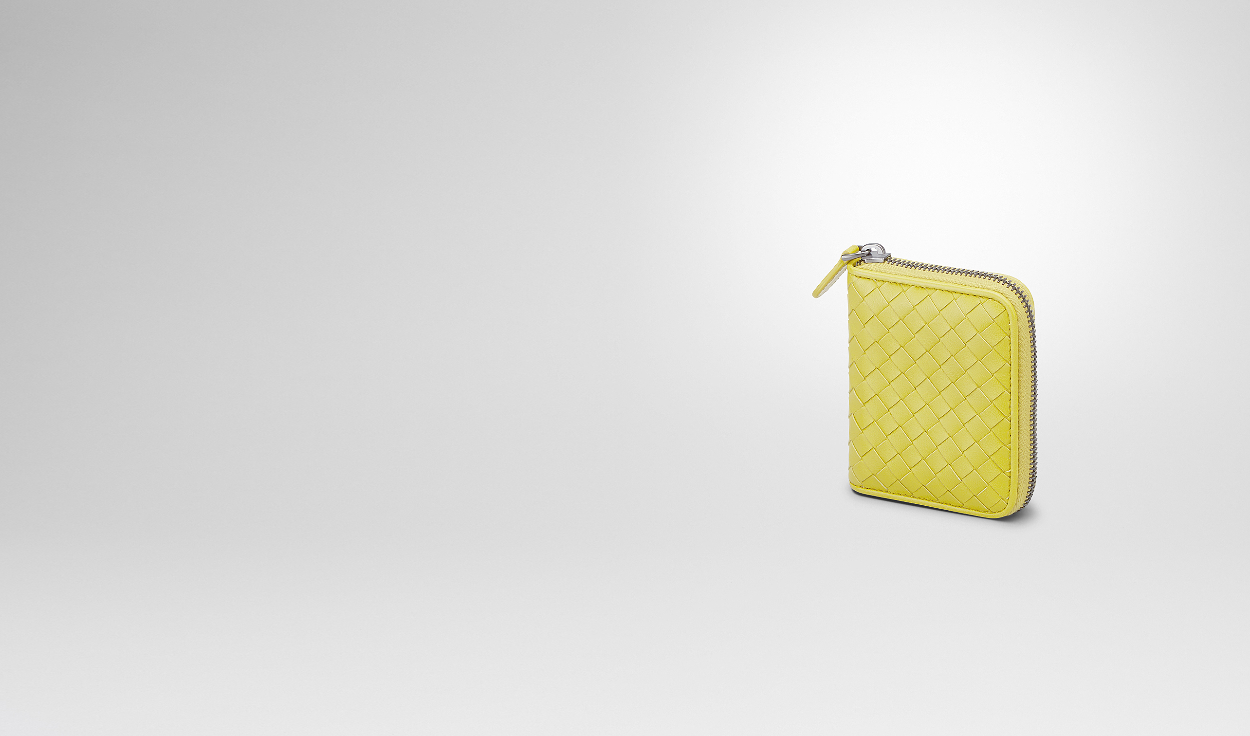 BOTTEGA VENETA Mini Wallet or Coin Purse D NEW CHARTREUSE INTRECCIATO NAPPA COIN PURSE pl