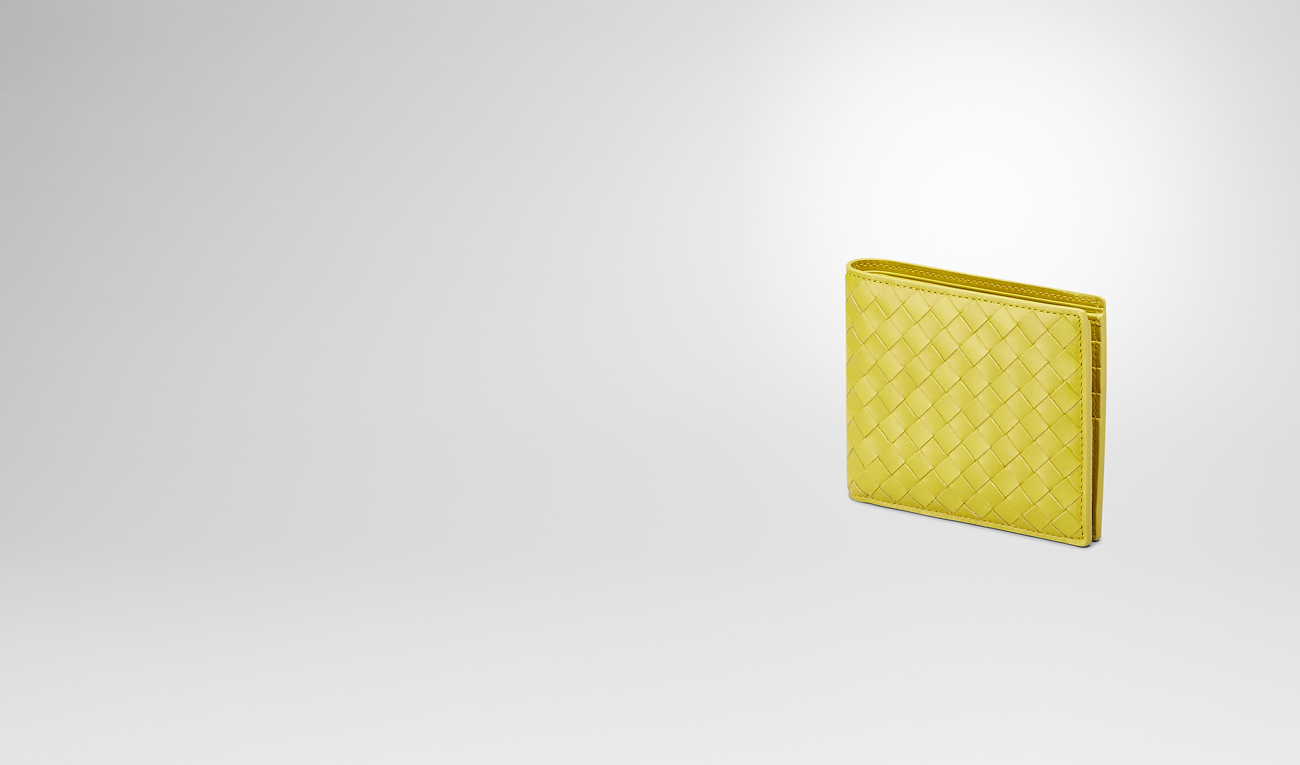 BOTTEGA VENETA Bi-fold Wallet U New Chartreuse Intrecciato Vn Wallet pl