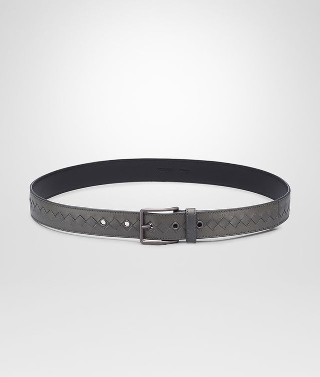 BOTTEGA VENETA Medium Grey Intrecciato Vachette Belt Belt U fp