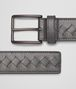 BOTTEGA VENETA Medium Grey Intrecciato Vachette Belt Belt U rp