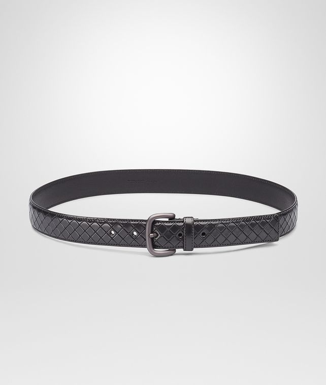 BOTTEGA VENETA New Dark Grey Intreccio Scolpito Belt Belt U fp