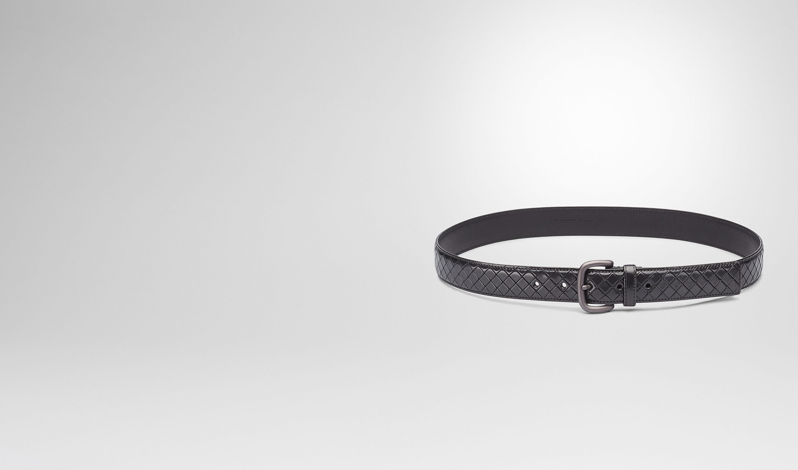 BOTTEGA VENETA Belt U New Dark Grey Intreccio Scolpito Belt pl