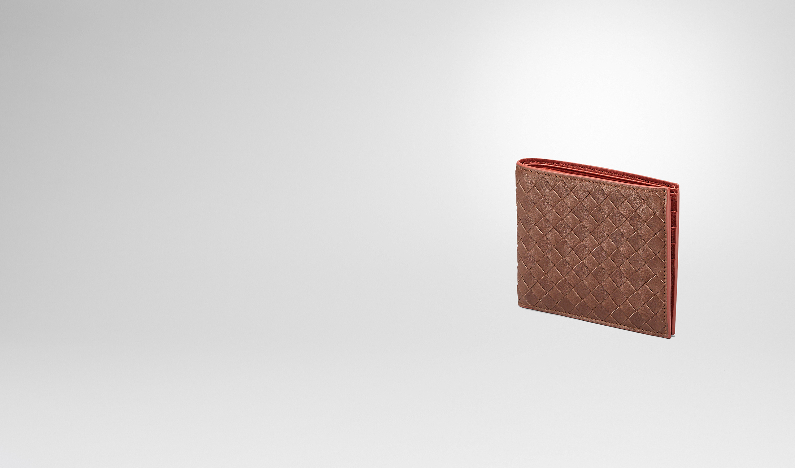BOTTEGA VENETA Bi-fold Wallet U Edoardo Burnt Red Intrecciato Washed Vintage Wallet pl