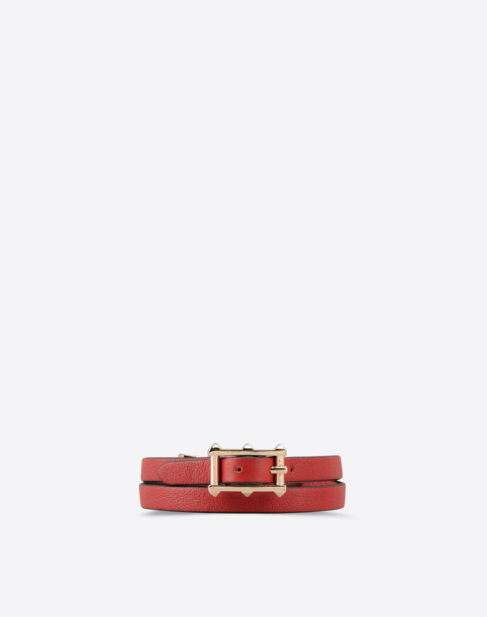 VALENTINO Metal Applications Solid color Leather lining Metallic buckle closure  46354075da
