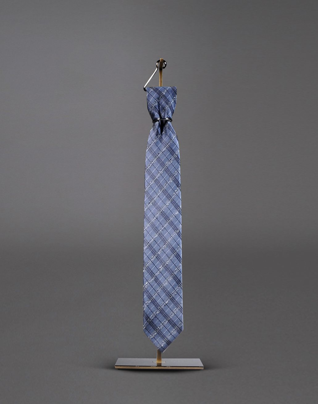BRIONI macro-check tie Tie & Pocket Square Man f