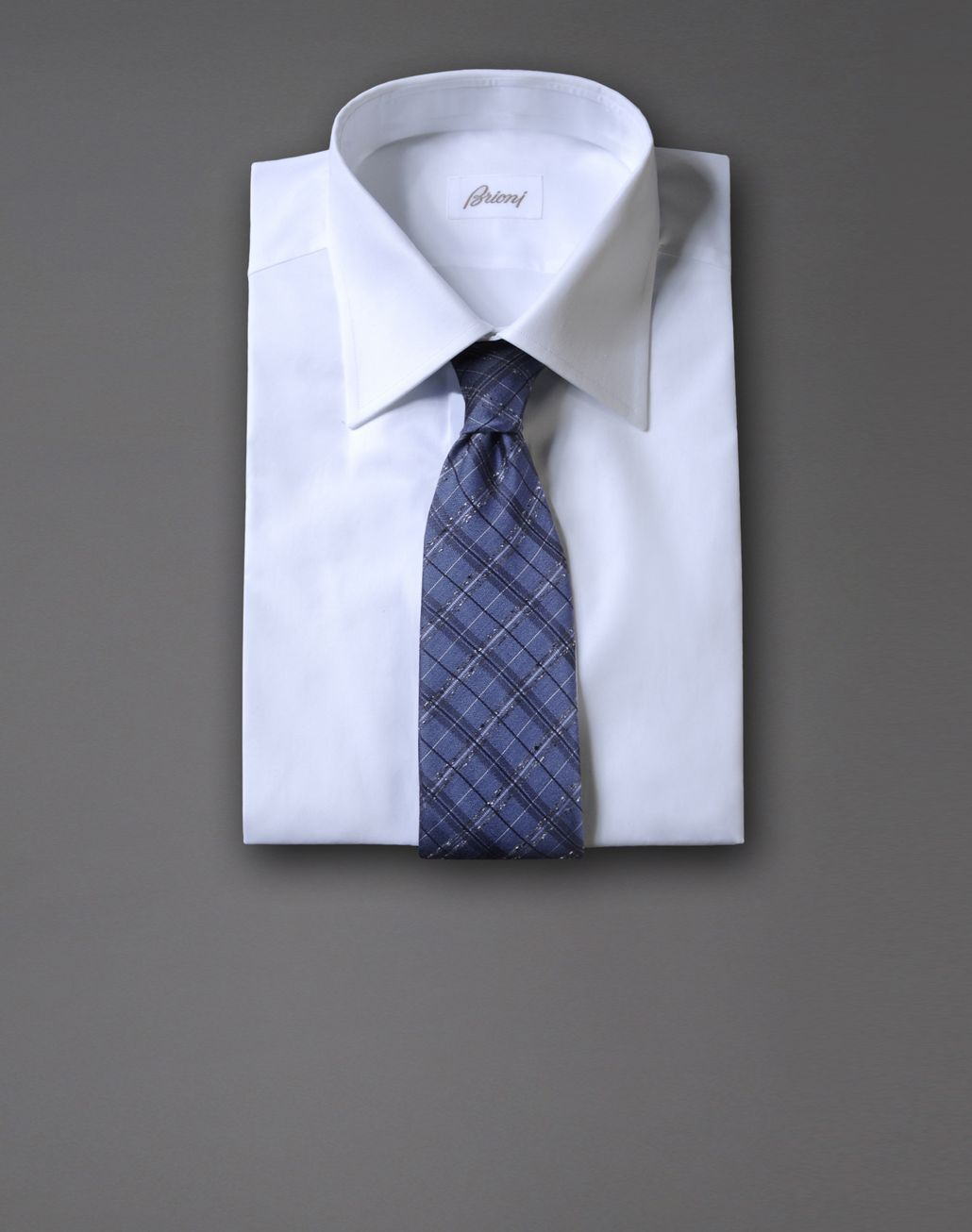 BRIONI macro-check tie Tie & Pocket Square Man r