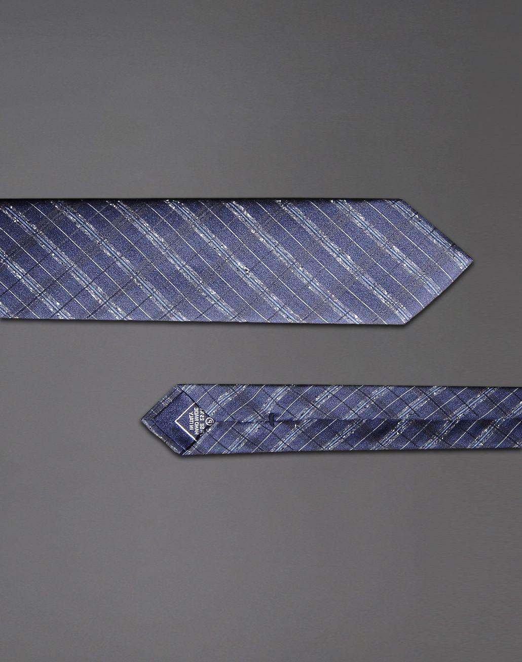 BRIONI macro-check tie Tie & Pocket Square Man d