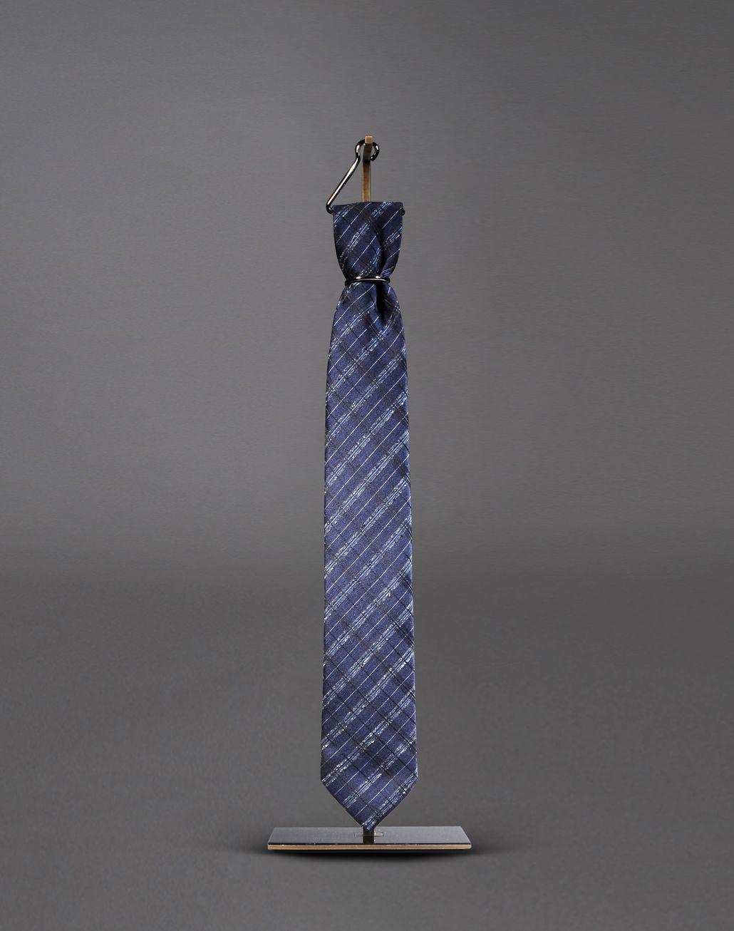 BRIONI macro-check tie Tie & Pocket Square Man f