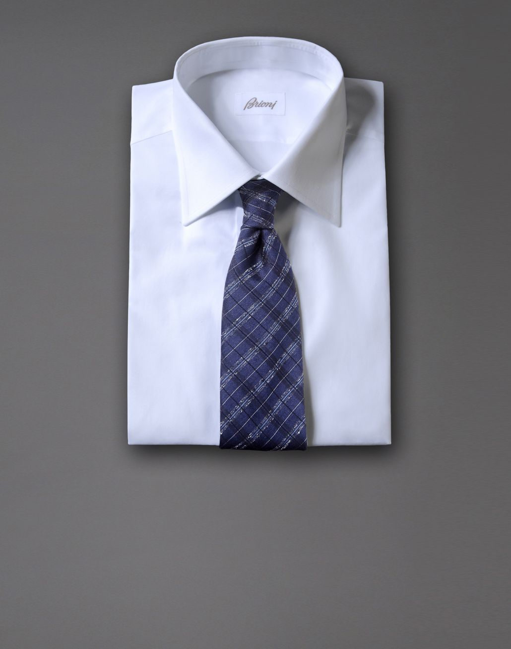 BRIONI macro-check tie Tie & Pocket Square Man r