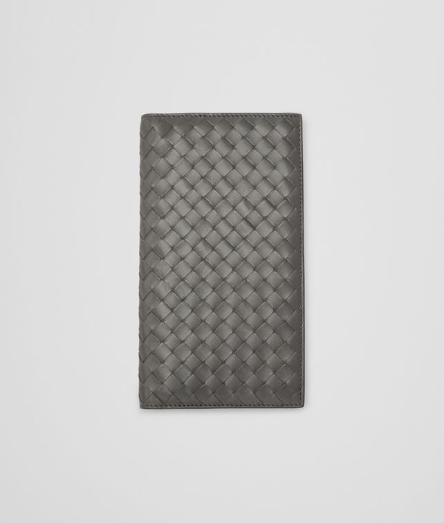 BOTTEGA VENETA Medium Grey Intrecciato Vachette Continental Wallet Continental Wallet U fp