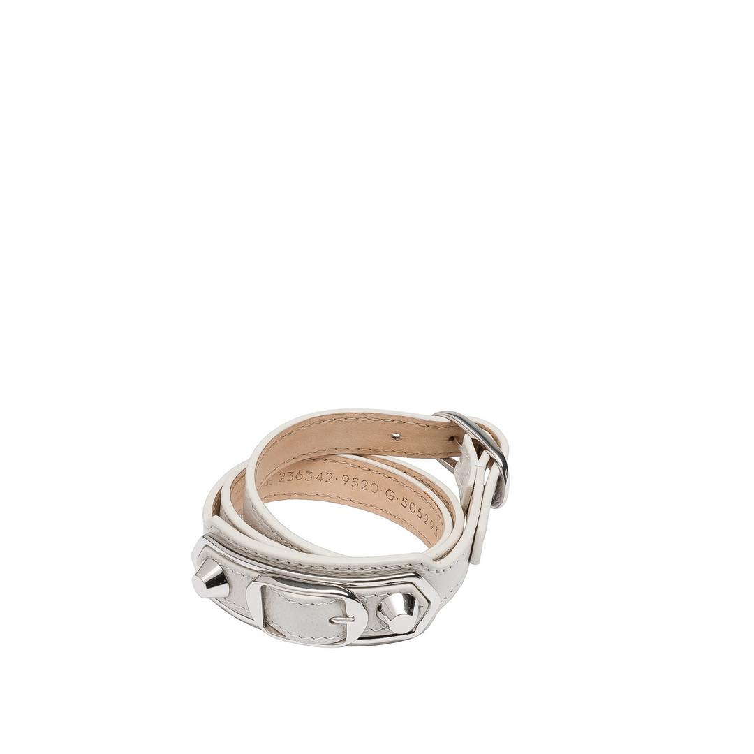 BALENCIAGA Balenciaga Classic Metallic Edge Bracelet Triple Tour Bracelet D f