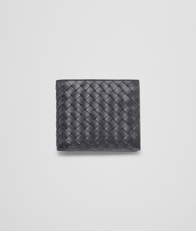 BOTTEGA VENETA BI-FOLD WALLET WITH COIN PURSE IN NERO CALF INTRECCIATO Bi-fold Wallet U fp