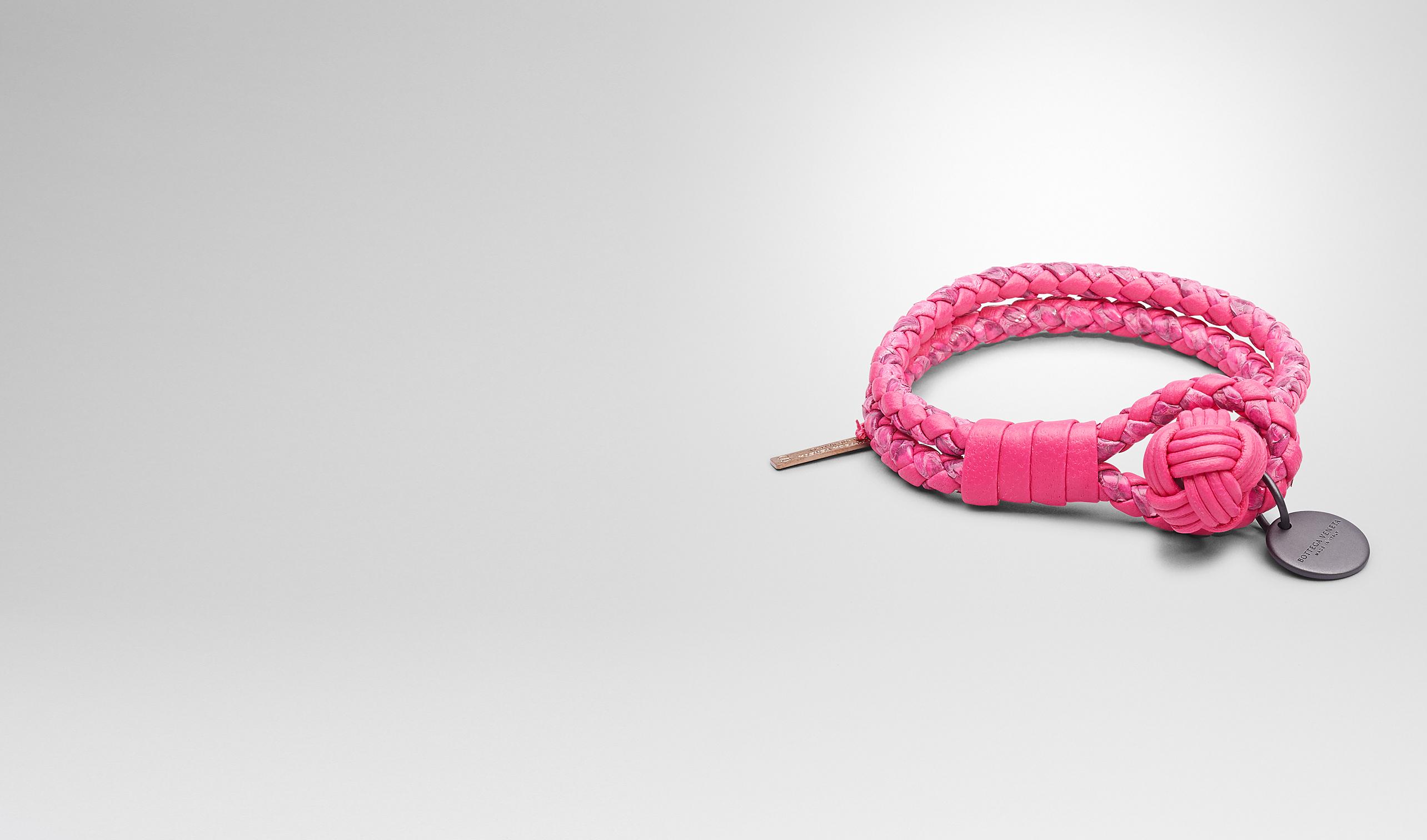 BOTTEGA VENETA Keyring or Bracelets D Rosa Shock Intrecciato Ayers Nappa Bracelet pl