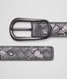 BOTTEGA VENETA New Light Grey Intrecciato Ayers Nappa Belt Belt D rp
