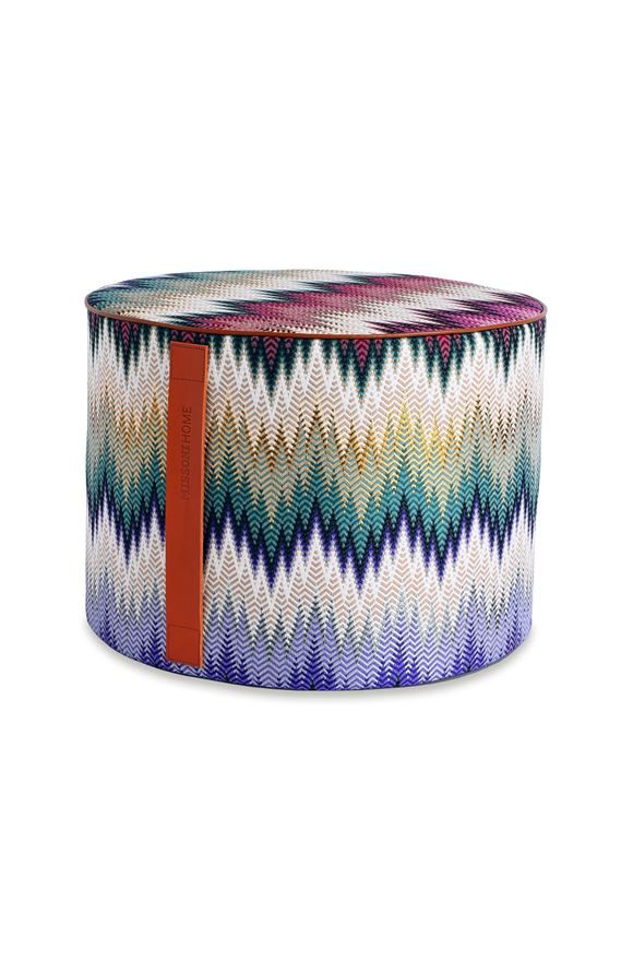 MISSONI HOME PHRAE CYLINDER POUF E, Frontal view
