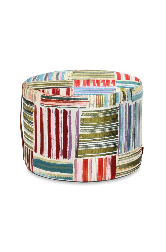 MISSONI HOME PALENQUE CYLINDER POUF E, Frontal view