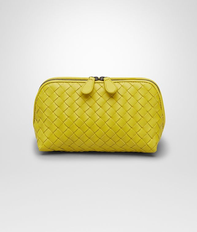 BOTTEGA VENETA BEAUTY CASE NEW CHARTREUSE IN NAPPA INTRECCIATA Altro accessorio in pelle D fp