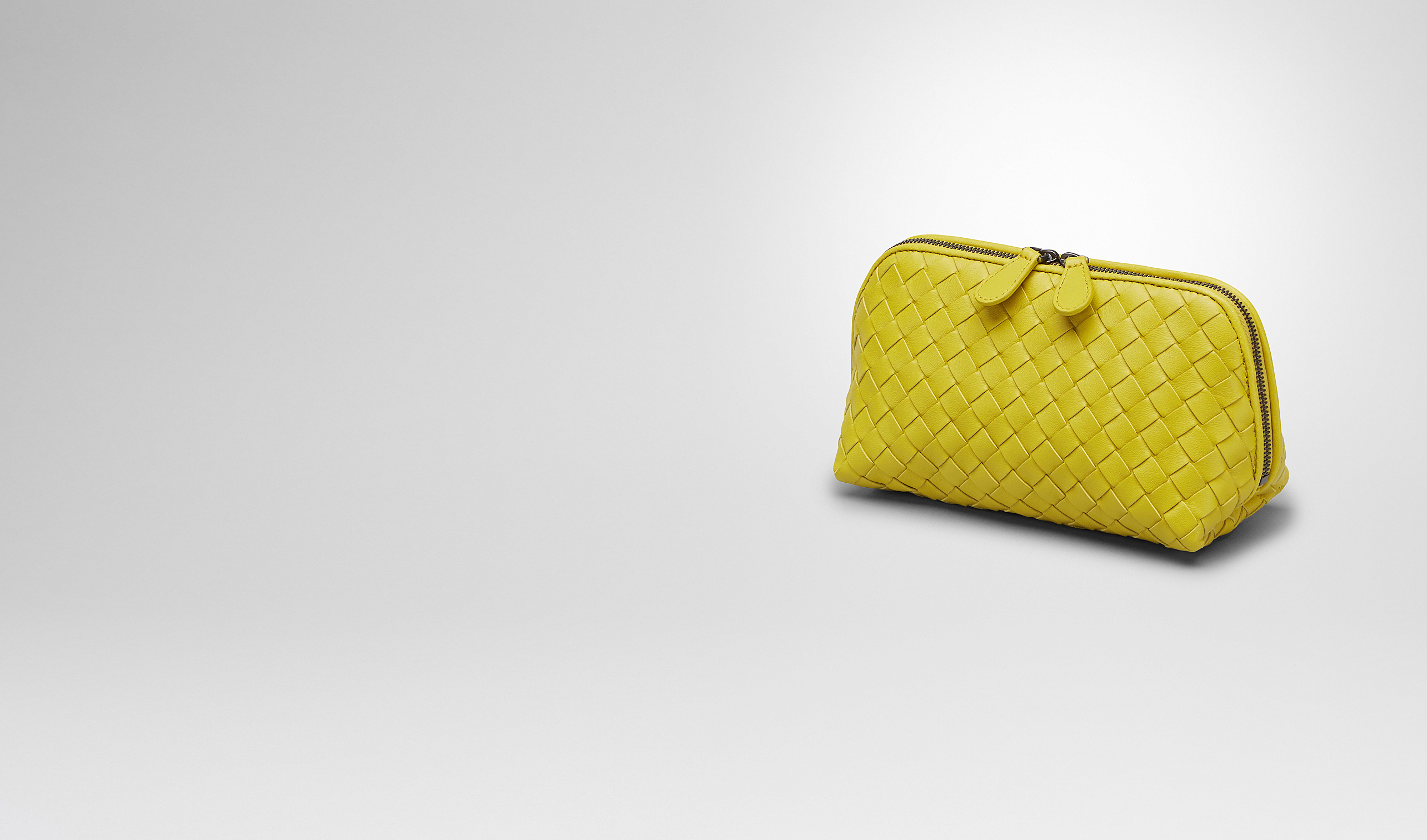 BOTTEGA VENETA Other Leather Accessory D NEW CHARTREUSE INTRECCIATO NAPPA Cosmetic Case pl