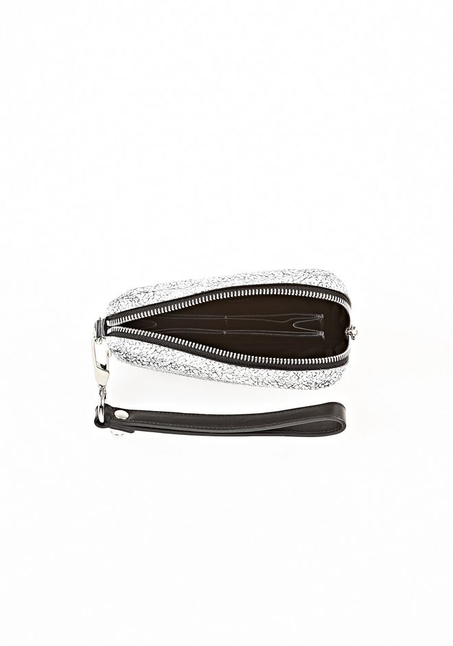 ALEXANDER WANG FUMO LARGE IN MATTE CRACKED PEROXIDE WITH RHODIUM SMALL LEATHER GOOD Adult 12_n_d