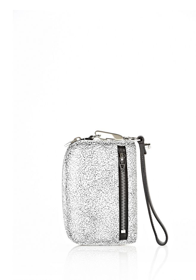ALEXANDER WANG FUMO LARGE IN MATTE CRACKED PEROXIDE WITH RHODIUM SMALL LEATHER GOOD Adult 12_n_e