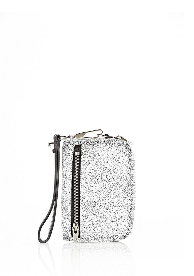ALEXANDER WANG FUMO LARGE IN MATTE CRACKED PEROXIDE WITH RHODIUM SMALL LEATHER GOOD Adult 12_n_f
