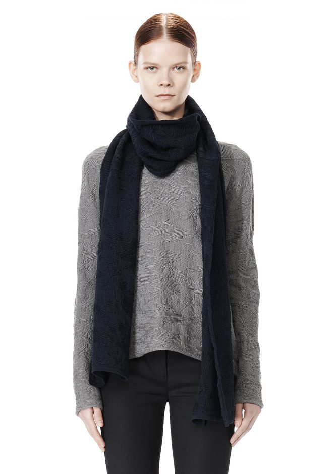 ALEXANDER WANG DISTRESSED SCARF Scarf & Hat Adult 12_n_e