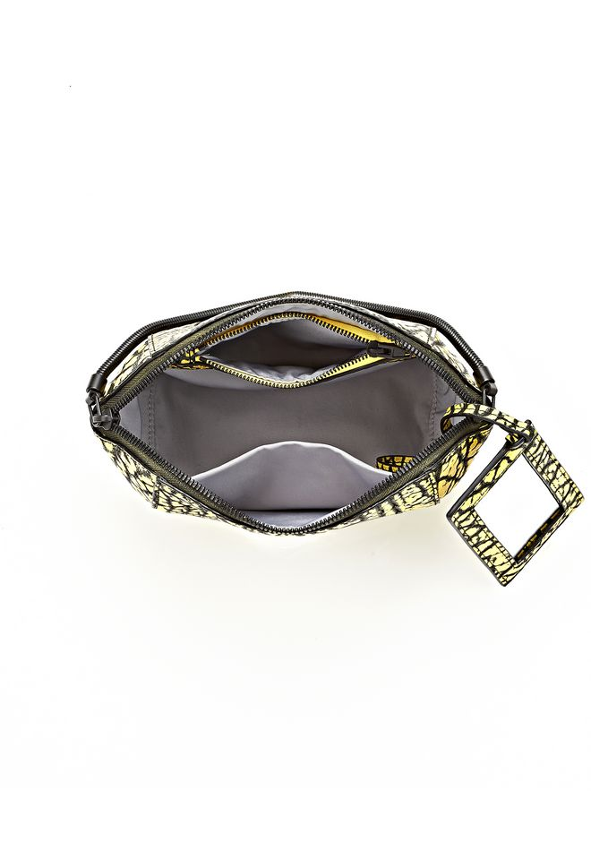 ALEXANDER WANG CHASTITY MAKE UP POUCH IN CONTRAST TIP CITRON SMALL LEATHER GOOD Adult 12_n_a