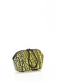 ALEXANDER WANG CHASTITY MAKE UP POUCH IN CONTRAST TIP CITRON SMALL LEATHER GOOD Adult 8_n_d