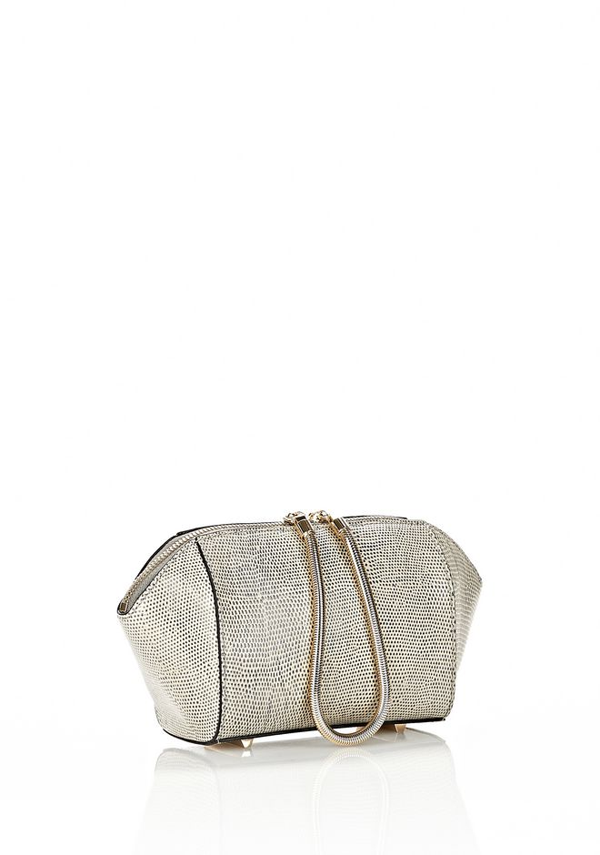 ALEXANDER WANG CHASTITY MAKE UP POUCH IN GRAPHIC OYSTER SMALL LEATHER GOOD Adult 12_n_d