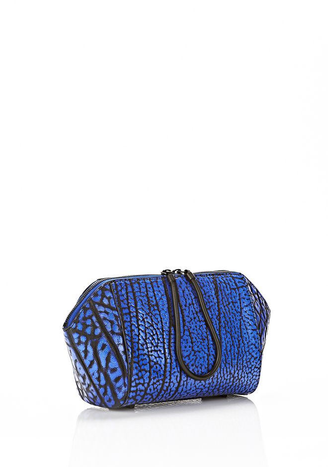 ALEXANDER WANG LARGE CHASTITY MAKE UP CLUTCH IN CONTRAST TIP NILE SMALL LEATHER GOOD Adult 12_n_d