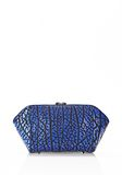 ALEXANDER WANG LARGE CHASTITY MAKE UP CLUTCH IN CONTRAST TIP NILE SMALL LEATHER GOOD Adult 8_n_e