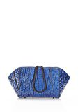ALEXANDER WANG LARGE CHASTITY MAKE UP CLUTCH IN CONTRAST TIP NILE SMALL LEATHER GOOD Adult 8_n_f
