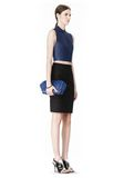 ALEXANDER WANG LARGE CHASTITY MAKE UP CLUTCH IN CONTRAST TIP NILE SMALL LEATHER GOOD Adult 8_n_r