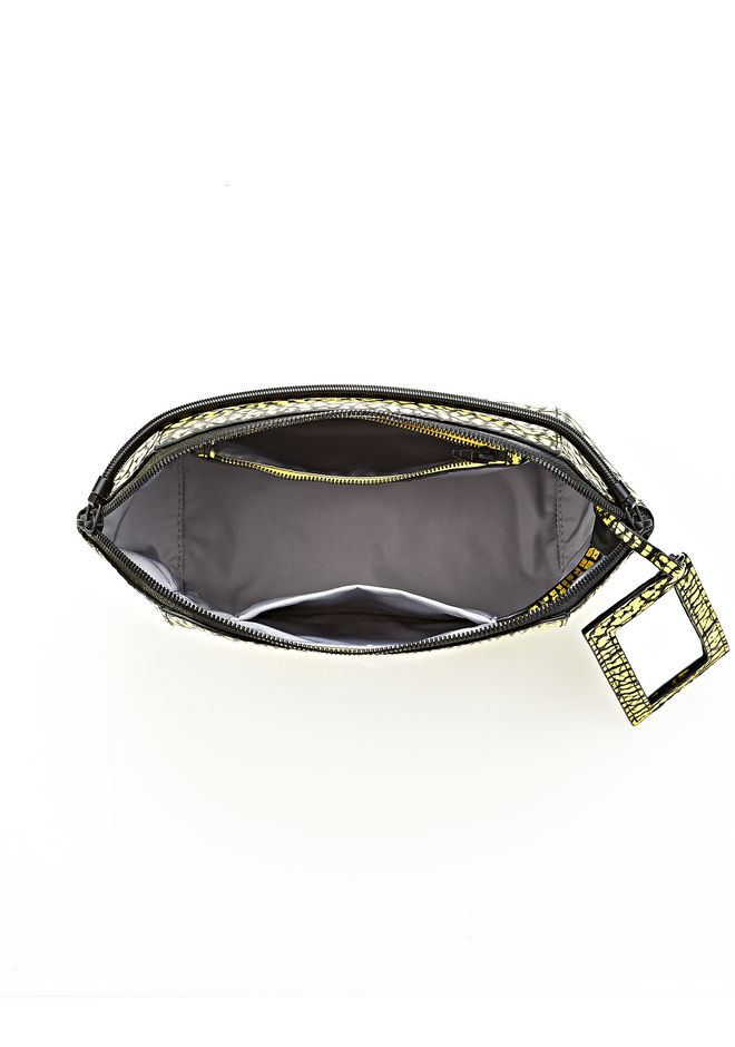 ALEXANDER WANG LARGE CHASTITY MAKE UP CLUTCH IN CONTRAST TIP CITRON SMALL LEATHER GOOD Adult 12_n_d