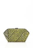 ALEXANDER WANG LARGE CHASTITY MAKE UP CLUTCH IN CONTRAST TIP CITRON SMALL LEATHER GOOD Adult 8_n_e