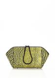 ALEXANDER WANG LARGE CHASTITY MAKE UP CLUTCH IN CONTRAST TIP CITRON SMALL LEATHER GOOD Adult 8_n_f