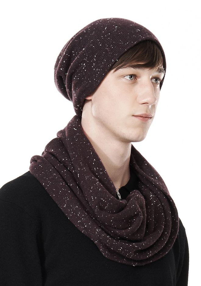ALEXANDER WANG CASHMERE DONEGAL ENDLESS SCARF Scarf & Hat Adult 12_n_e
