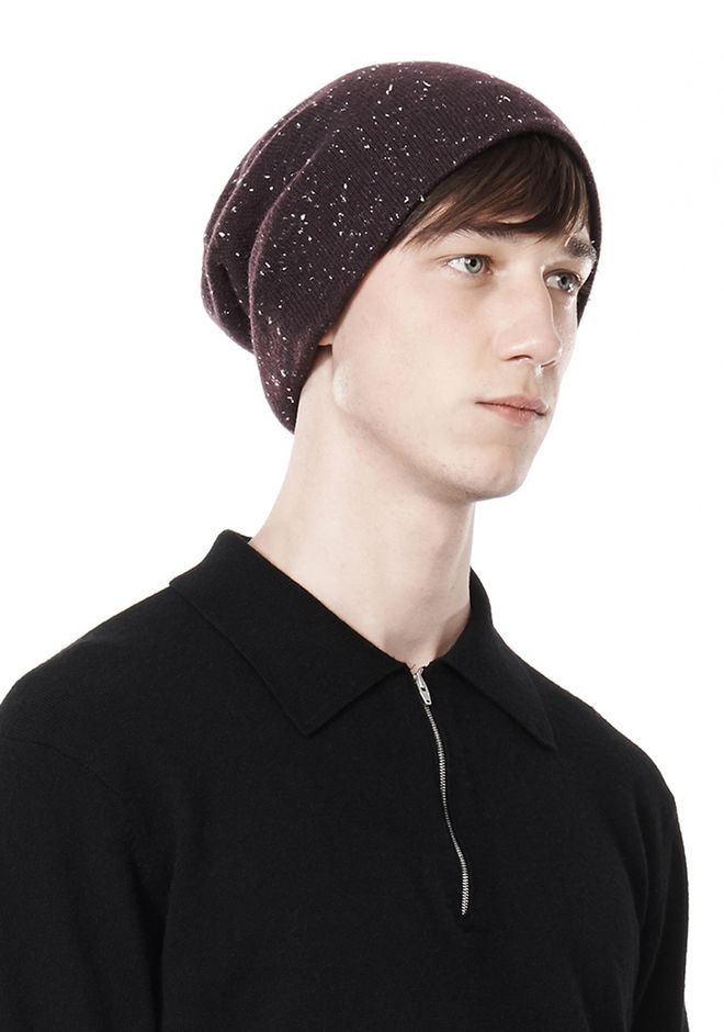 ALEXANDER WANG CASHMERE DONEGAL BEANIE Scarf & Hat Adult 12_n_r