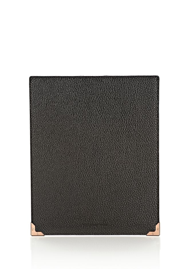 ALEXANDER WANG PRISMA IPAD SLEEVE IN PEBBLED CALF WITH ROSE GOLD TECH Adult 12_n_e