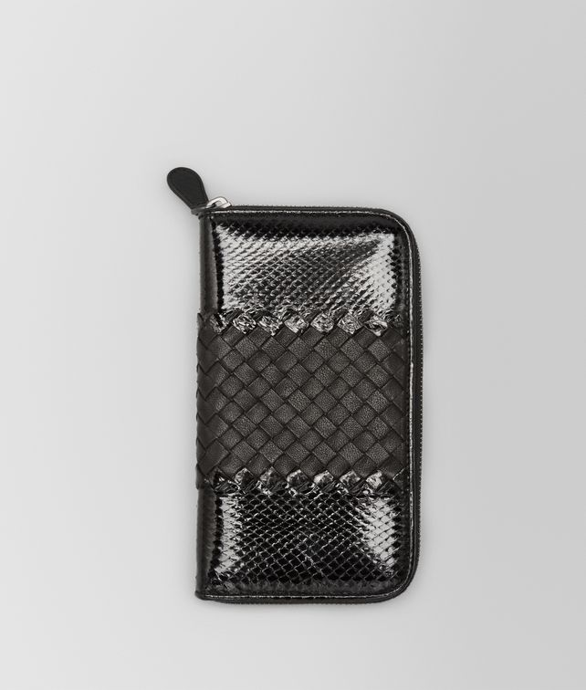 BOTTEGA VENETA ZIP AROUND WALLET IN NERO AYERS AND LAMBSKIN Zip Around Wallet Woman fp