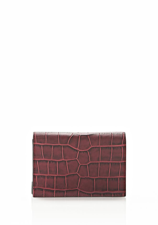 ALEXANDER WANG PRISMA BIKER PURSE IN BEET Wallets Adult 12_n_e